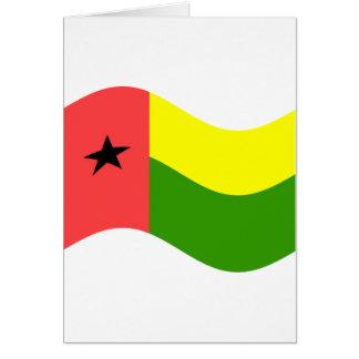 Bandera de Guinea-Bissau que agita Tarjetón