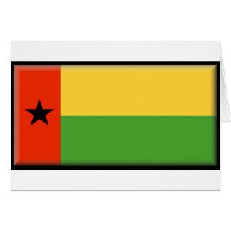 Bandera de Guinea-Bissau Tarjeton
