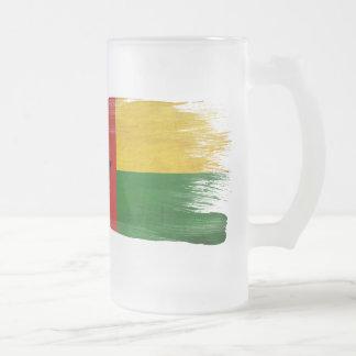Bandera de Guinea-Bissau Taza Cristal Mate