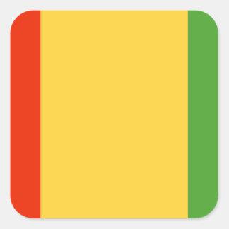 Bandera de Guinea Pegatina Cuadrada