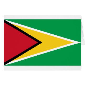 Bandera de Guyana Tarjeta De Felicitación