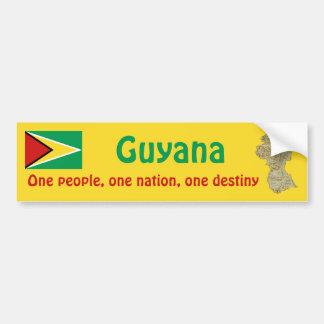Bandera de Guyana y pegatina para el parachoques d Pegatina Para Coche