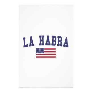 Bandera de Habra los E.E.U.U. del La Papeleria De Diseño