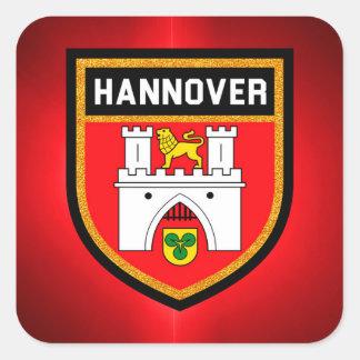 Bandera de Hannover Pegatina Cuadrada
