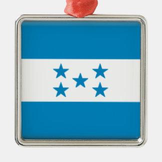 Bandera de Honduras Adorno Navideño Cuadrado De Metal