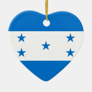 Bandera de Honduras Adorno Navideño De Cerámica En Forma De Corazón