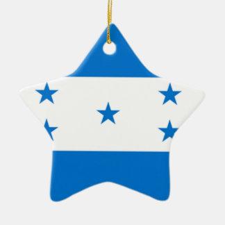 Bandera de Honduras Adorno Navideño De Cerámica En Forma De Estrella