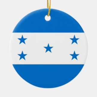Bandera de Honduras Adorno Navideño Redondo De Cerámica