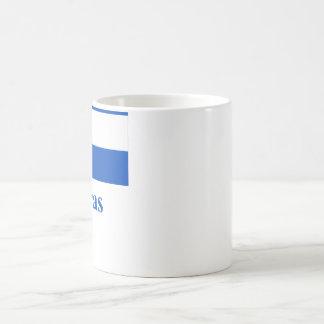Bandera de Honduras con nombre Taza