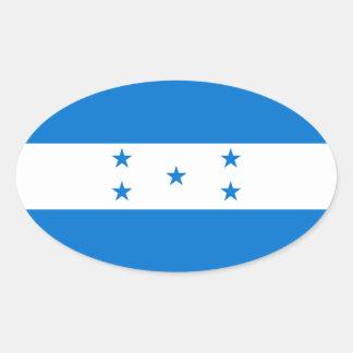 Bandera de Honduras/del Honduran Pegatina Ovalada