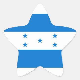 Bandera de Honduras/del Honduran Pegatina En Forma De Estrella