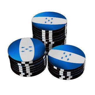 Bandera de Honduras Juego De Fichas De Póquer