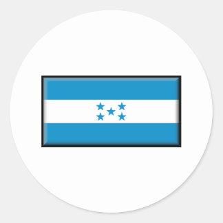 Bandera de Honduras Etiquetas Redondas