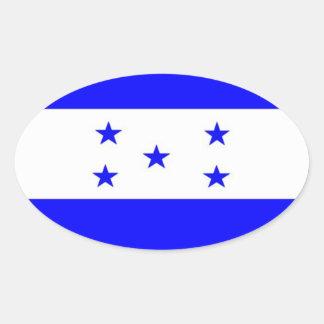 Bandera de Honduras Calcomania De Óval Personalizadas