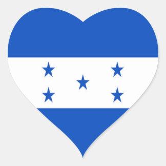 Bandera de Honduras Pegatina En Forma De Corazón