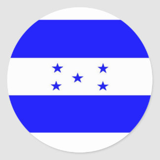 Bandera de Honduras Etiqueta Redonda