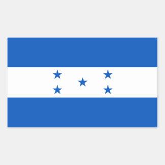 Bandera de Honduras Pegatina Rectangular