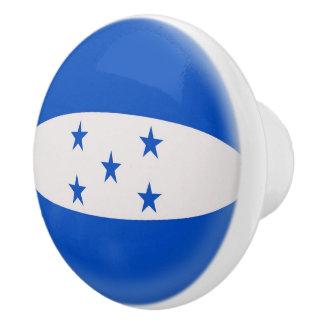 Bandera de Honduras Pomo De Cerámica
