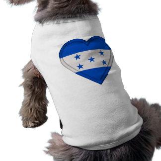 Bandera de Honduras Camiseta Sin Mangas Para Perro