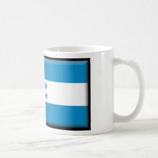 Bandera de Honduras Taza Básica Blanca