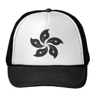Bandera de Hong Kong China - negro Gorros Bordados