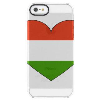 Bandera de Hungría simple Funda Transparente Para iPhone SE/5/5s