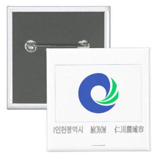 Bandera de Inchon con nombre Chapa Cuadrada 5 Cm