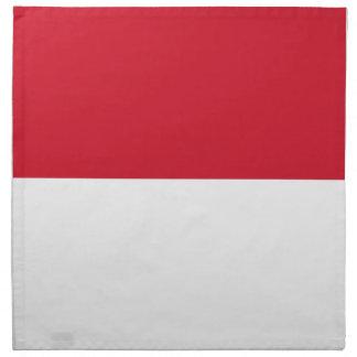 Bandera de Indonesia Servilleta De Tela