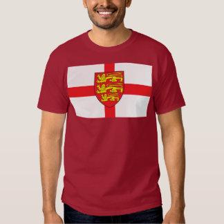 Bandera de Inglaterra con la camiseta del escudo