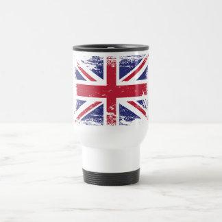 Bandera de Inglaterra del Grunge Taza De Café