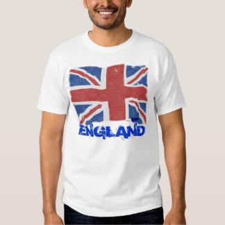 Bandera de Inglaterra del vintage Camisas