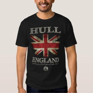 Bandera de Inglaterra Reino Unido del casco Camisetas