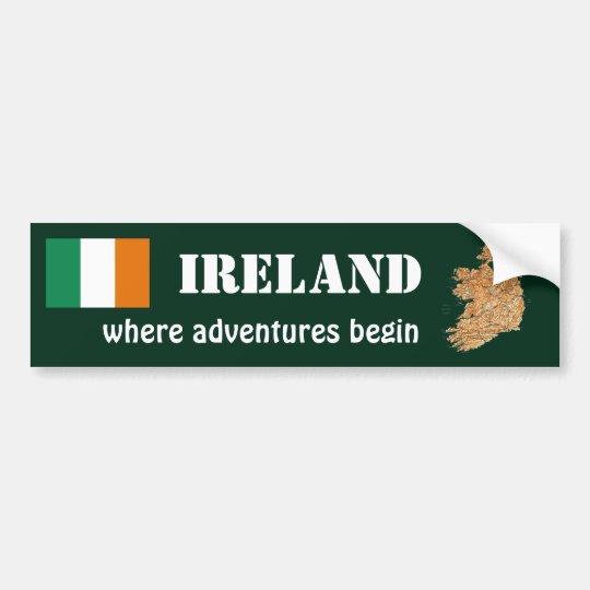 Bandera de Irlanda + Pegatina para el parachoques