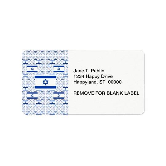 Bandera de Israel - estrella de David - en capas Etiquetas De Dirección