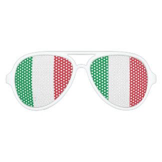 Bandera de Italia, bandera del italiano de la Gafas De Fiesta De Aviador