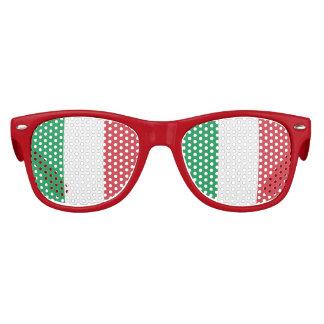 Bandera de Italia, bandera del italiano de la Gafas De Fiesta Retro