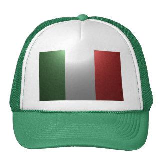 Bandera de Italia con efecto metálico Gorras De Camionero