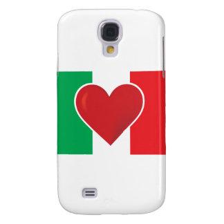 Bandera de Italia del corazón Funda Para Galaxy S4