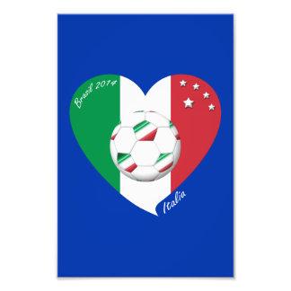 Bandera de ITALIA FÚTBOL mundial campeones 2014 Impresión Fotográfica