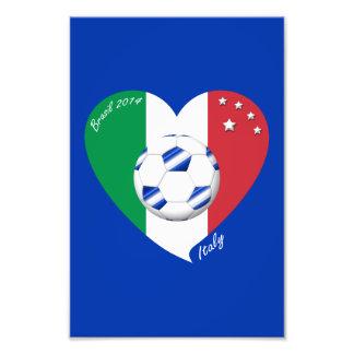Bandera de ITALIA FÚTBOL nacional del equipo 2014 Impresiones Fotograficas