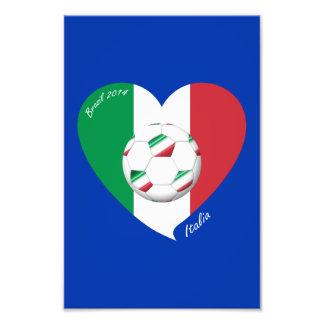 Bandera de ITALIA FÚTBOL y equipos nacionales 2014 Impresion Fotografica