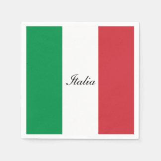 Bandera de Italia Servilletas De Papel