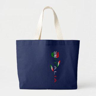 Bandera de Italia subió Bolsa De Tela Grande