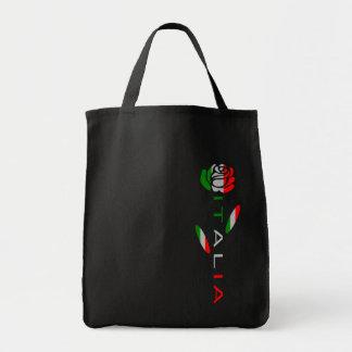 Bandera de Italia subió Bolso De Tela