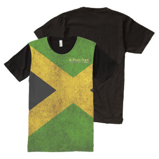 Bandera de Jamaica apenada por todo la camiseta