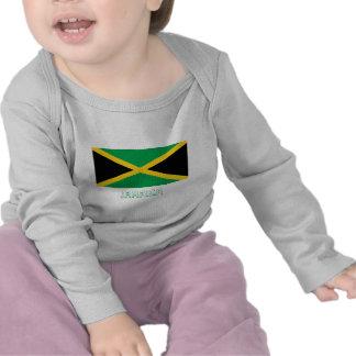 Bandera de Jamaica con nombre Camiseta