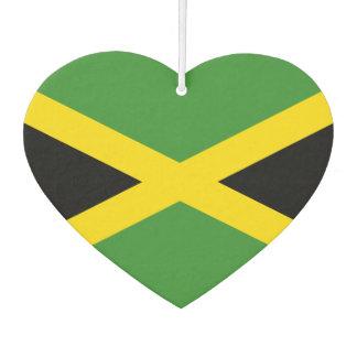 Bandera de jamaicano en fondo del metal ambientador