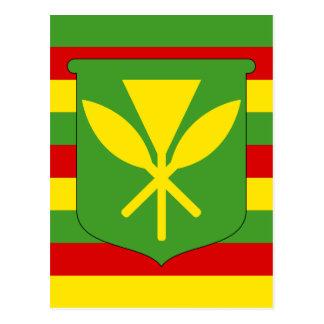 Bandera de Kanaka Maoli - bandera hawaiana de la Postal