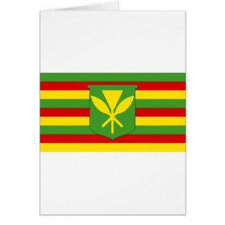 Bandera de Kanaka Maoli - bandera hawaiana de la Tarjeta De Felicitación