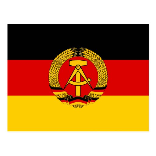 Bandera de la Alemania Oriental Postales